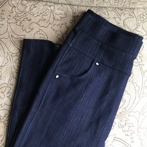 Pinstripe jean leggings soft